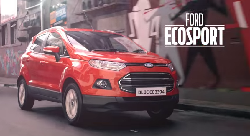 Ford Ecosport featured in an advertisement #GetBusyLiving