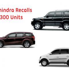 Mahindra Recalls 2,300 units of SUV's and MPV's