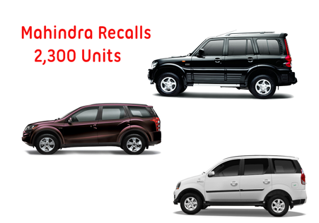 Mahindra Recalls 2300 units