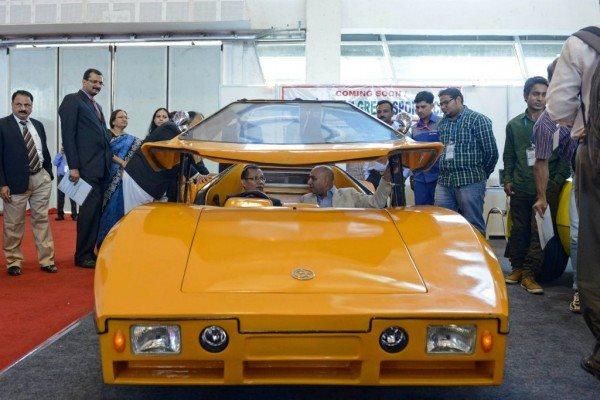 Green Sports Car 1