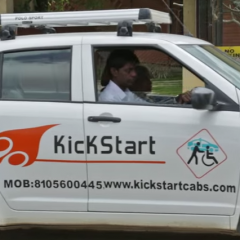 KickStart – A Cab service designed for old and disabled