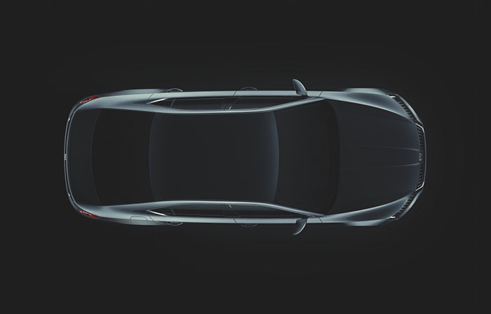 The Skoda Superb Top View
