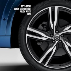 New Volvo XC90 comes with diamond-cut alloy wheels