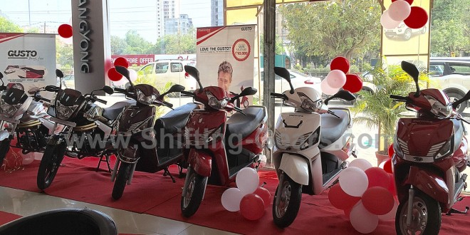 Mahindra 2 Wheelers found in 4 Wheelers Showroom