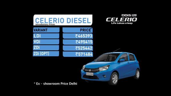 Celerio Diesel price