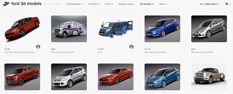 Ford-3D-Printing-Store-List
