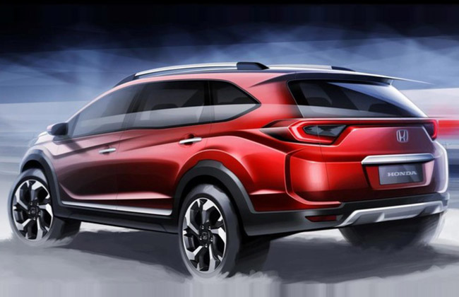 Photos Of Upcoming Seater Honda Br V Suv Revealed Gaadikey