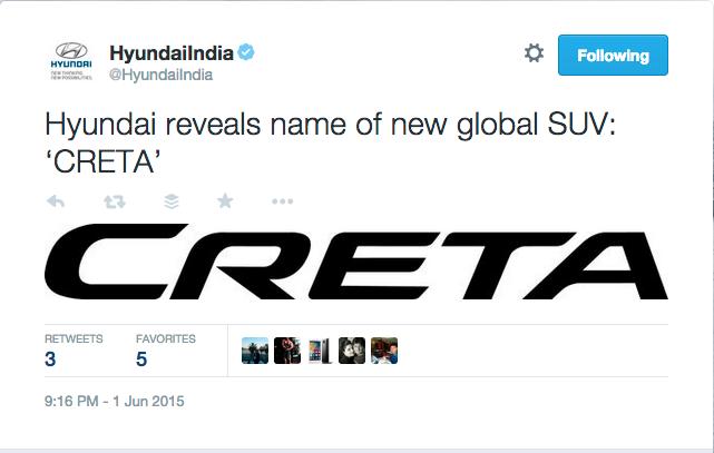 Hyundai Creta Revealed Name