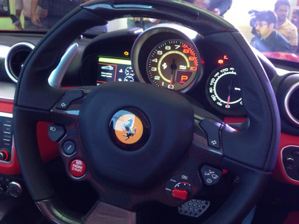 Ferrari California T Steering + Interiors