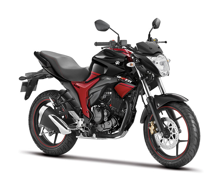 Suzuki Gixxer Black and Red