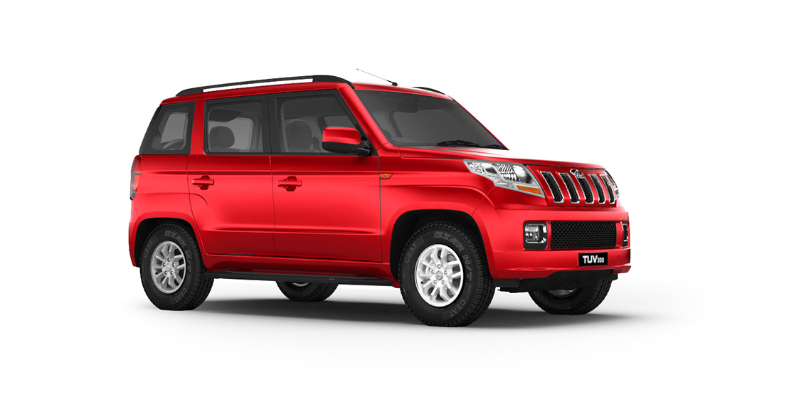 Mahindra TUV300 Dynamo Red Color