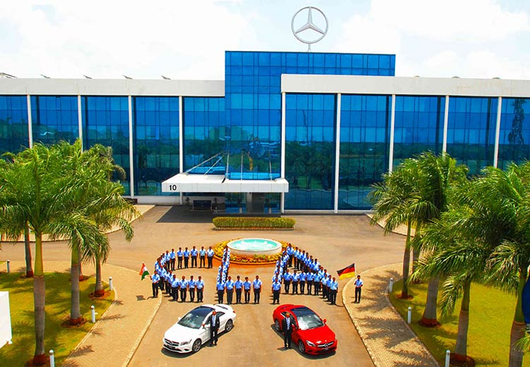 Mercedes Benz CLA India Production