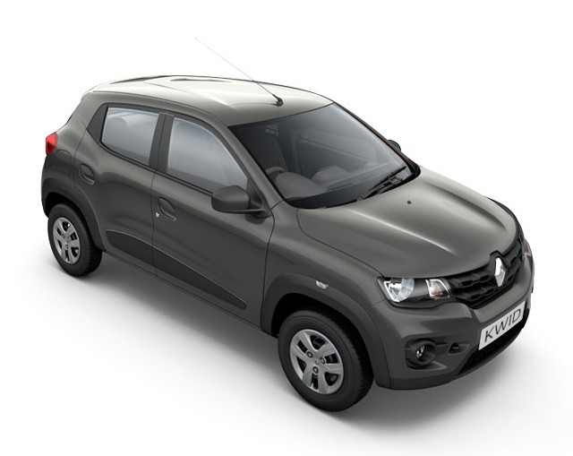 Renault Kwid in Planet Grey Colour
