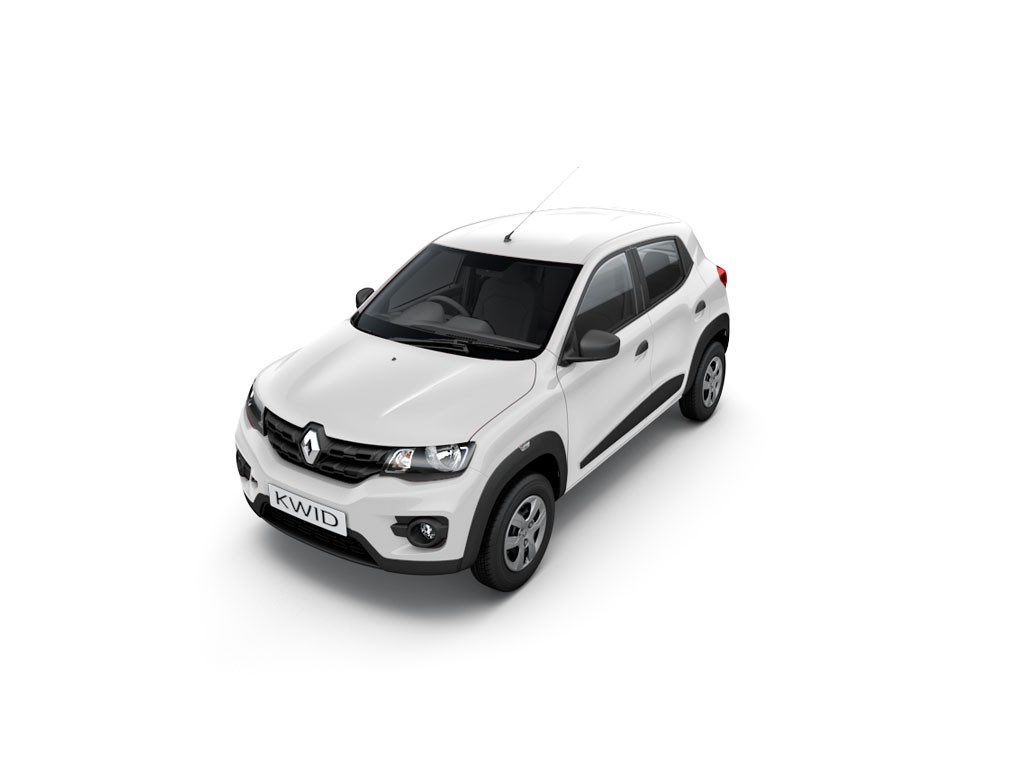 Renault Kwid in White. Kwid colours include Icecool white