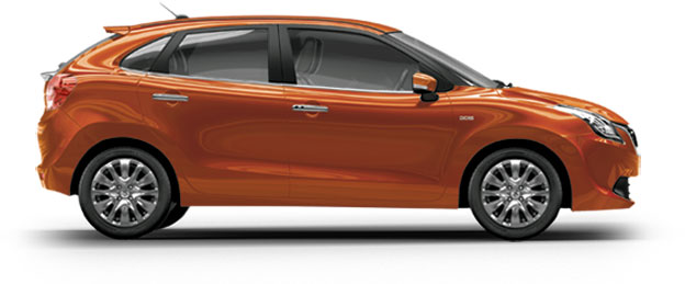 Maruti Baleno in Autumn Orange
