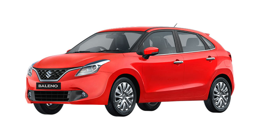 Maruti Baleno Red Color - Maruti Baleno Fire Red Color Variant