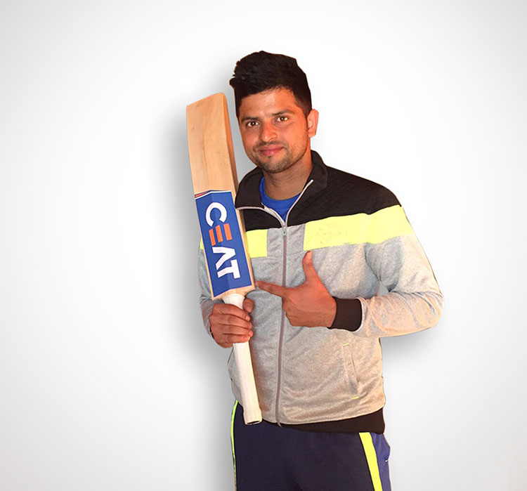 Suresh Raina with CEAT Bat