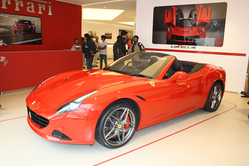 Ferrari California T as seen in New Delhi Showroom