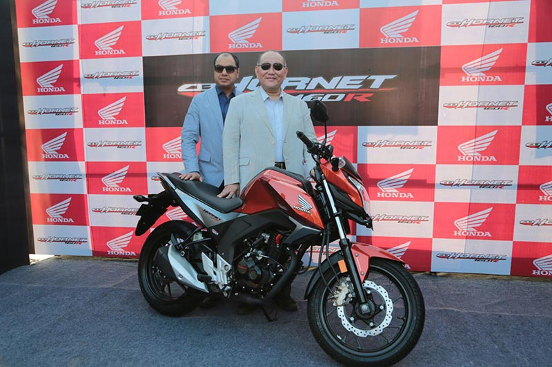 Honda CB Hornet 160R During the launch event