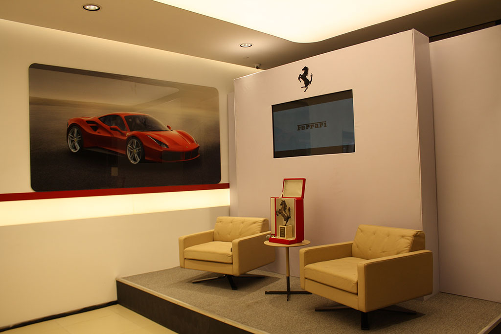Ferrari California T in the Delhi Showroom