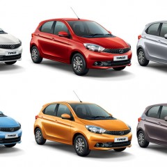 Tata Tiago Colors: Red, Orange, Brown, Silver, Blue, White