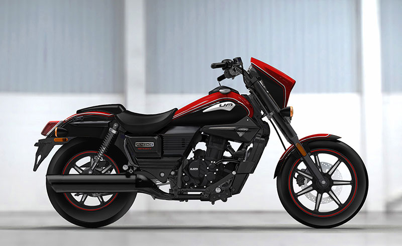 UM Motorcycles Renegade Sport Young red color