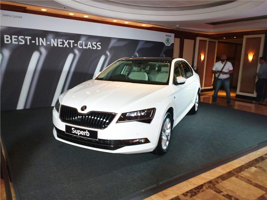 The new 2016 Skoda Superb was launched in Mumbai