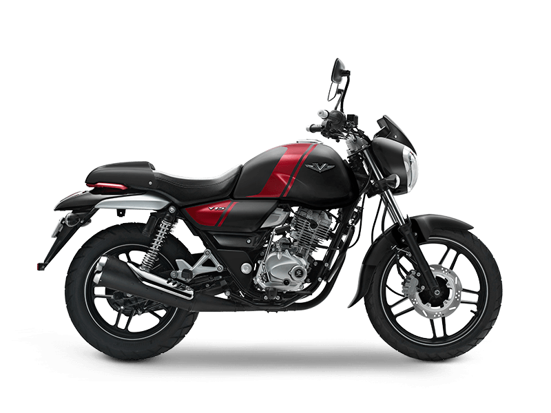 Bajaj V Ebony Black Color motorcycle