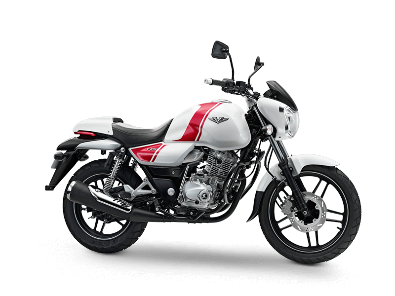 Bajaj V Peart White Color motorcycle