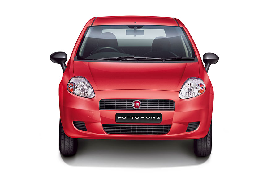 Fiat Punto Pure in the front