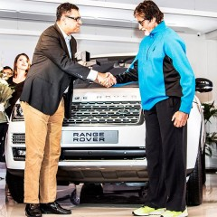 Indian cinema icon Amitab Bachchan gets Range Rover from JLR