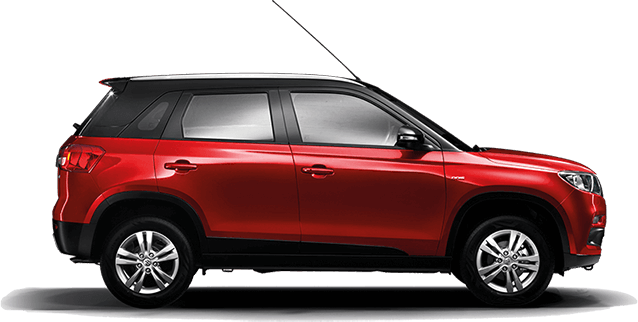 Maruti Vitara Brezza Red with Black ( Blazing Red with Midnight Black) Dual tone color