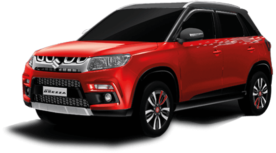 Vitara Brezza in Red Photo