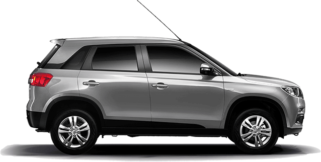 Maruti Vitara Brezza in Silver Color ( Premium Silver) Monotone color