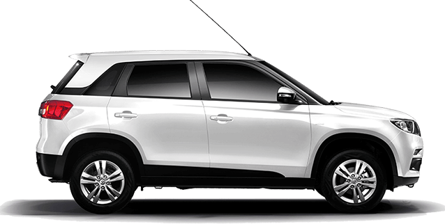 Maruti Vitara Brezza in White Color ( Pearl Arctic White) Mono tone