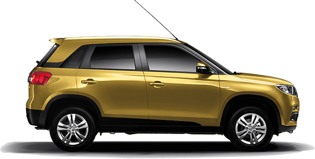 Maruti Vitara Brezza Yellow Color ( Fiery Yellow)