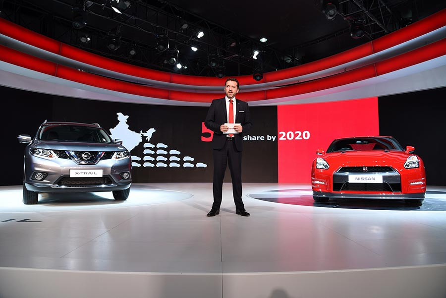Nissan's president at Delhi Auto Expo 2016