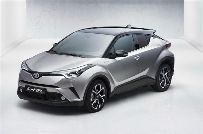 Toyota CH-R seen before Geneva Motorshow