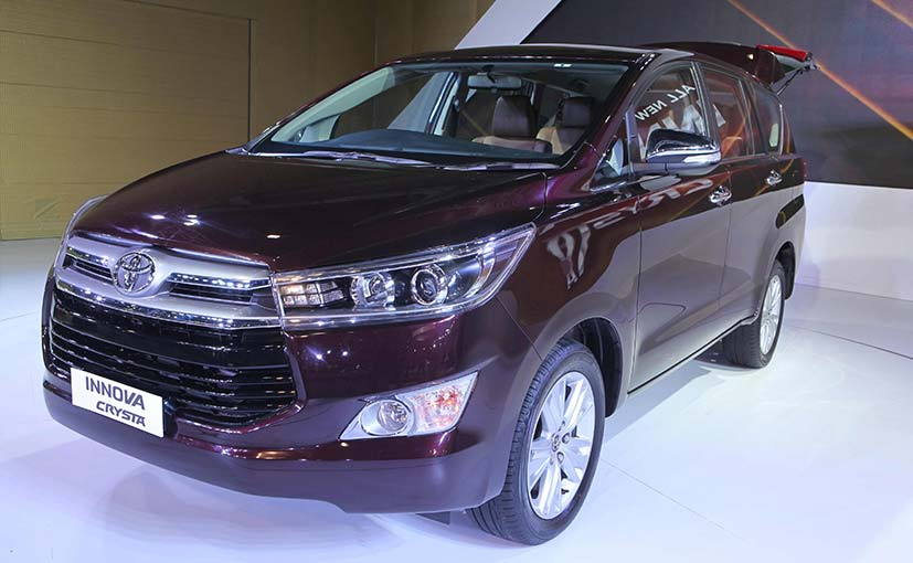 Toyota Innova Crysta Displayed at Auto Expo 2016