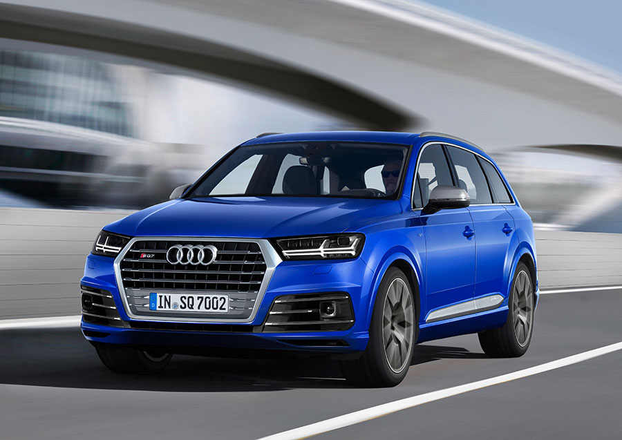 Audi SQ7 Blue Color