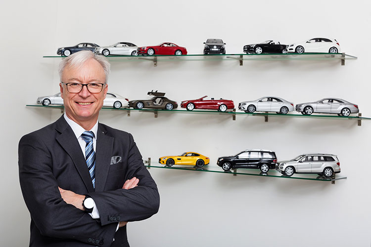 Roland Folger of Mercedes-Benz event