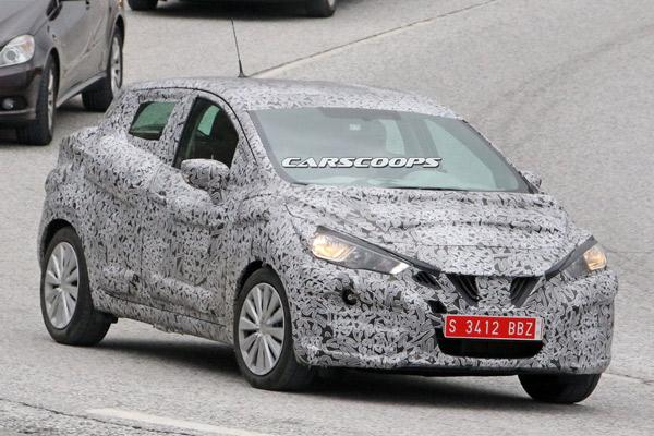 Next Generation Nissan Micra Spotted Testing