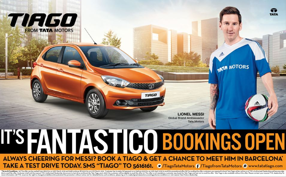 Tata TIAGO Bookings are now open