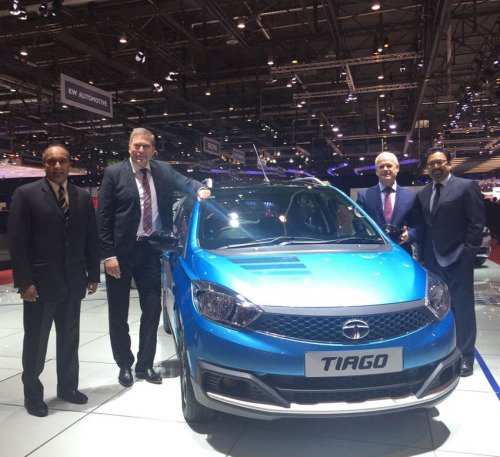 Tata Tiago as seen in Geneva Motorshow.