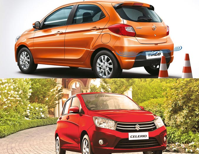 Tata Tiago vs Maruti Celerio comparison
