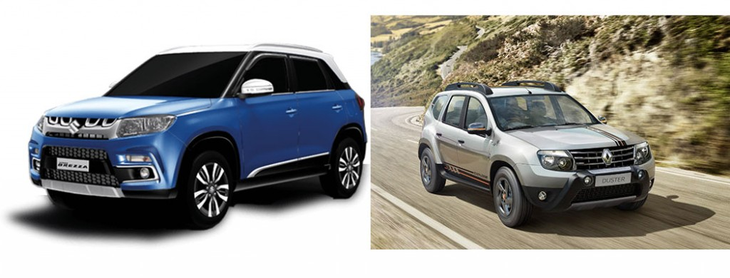 Vitara Brezza vs Renault Duster Comparision