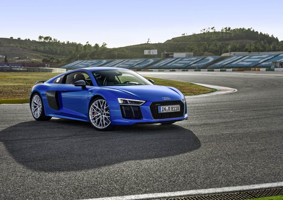 Audi R8 V10 Plus sports car in BIC