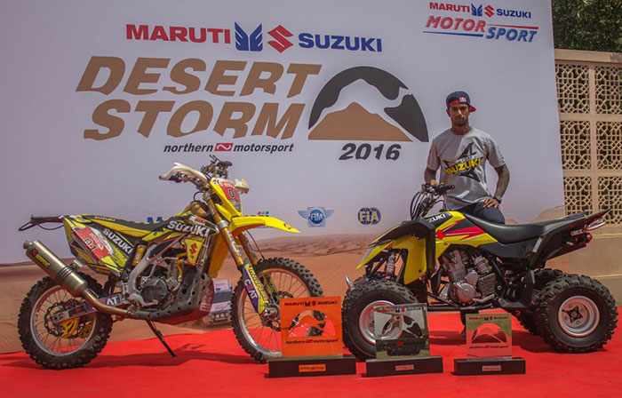 CS-Santosh-emerges-winner-at-2016-Desert-Storm-on-his-Suzuki-RMX450z-Rally