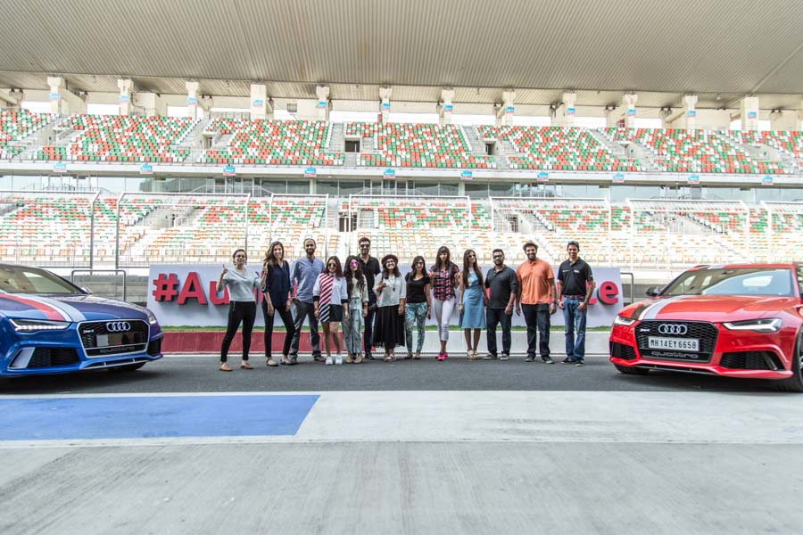 Friends and Partners of Audi pose for a photo at BIC Delhi