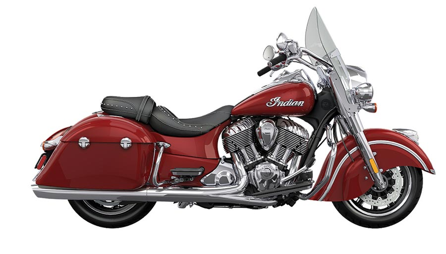 Indian Motorcycle in Red Color